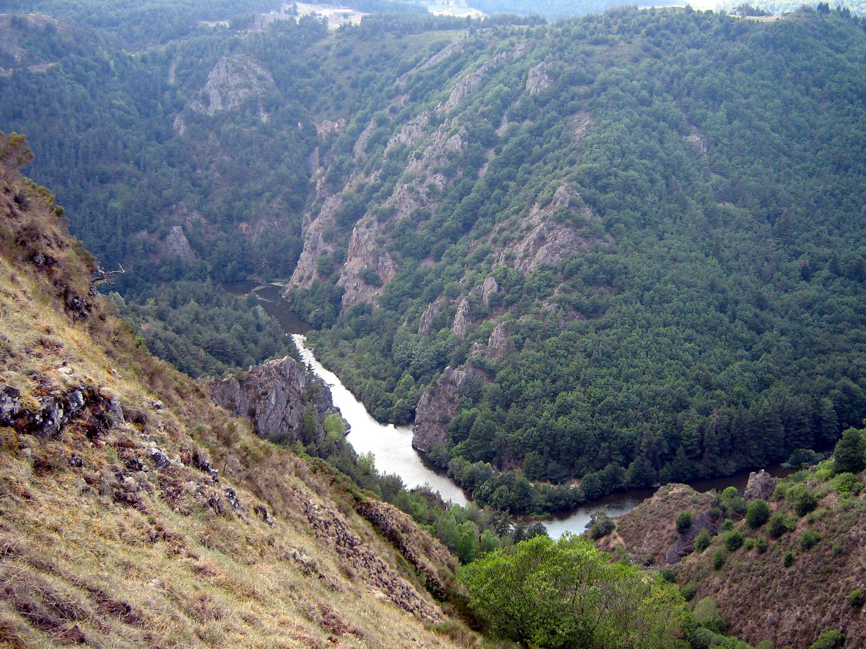 Les gorges de l'Allier vers Chapeauroux