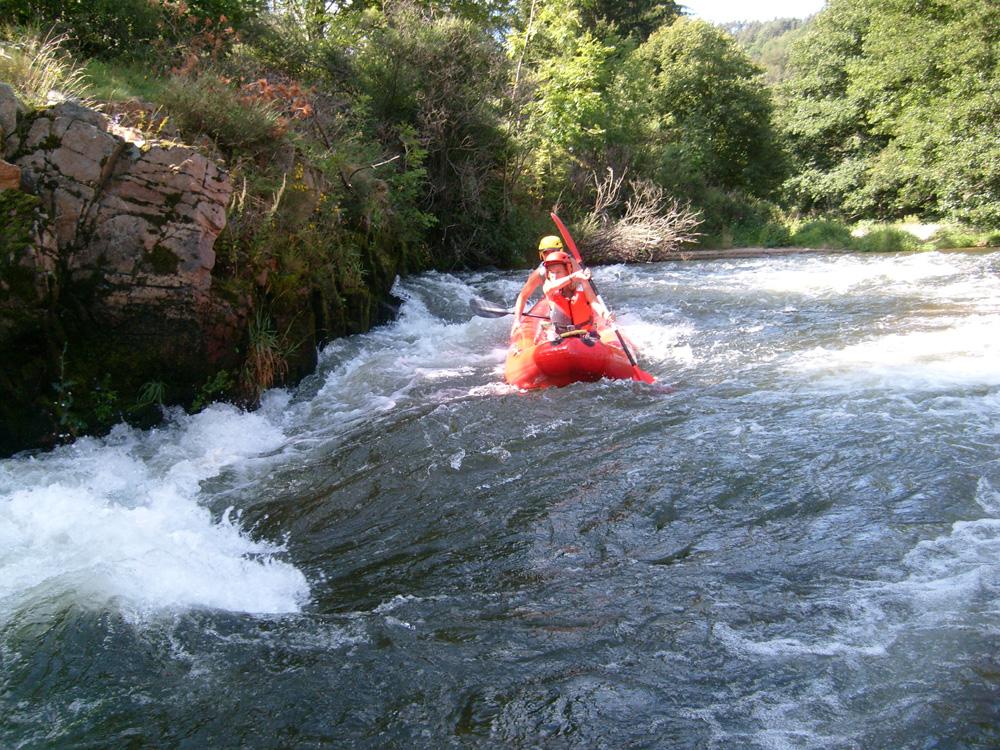 Sports d'eaux vives sur l'Allier